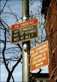 Don't even think of parking here - or we shall come after you.